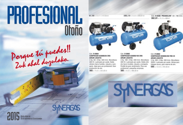 Synergas Nuevo Folleto - Compresores Airum 103