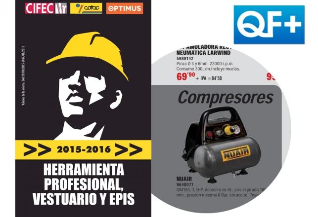 El Compresor New Vento Nuair en el folleto QF+ profesional 101