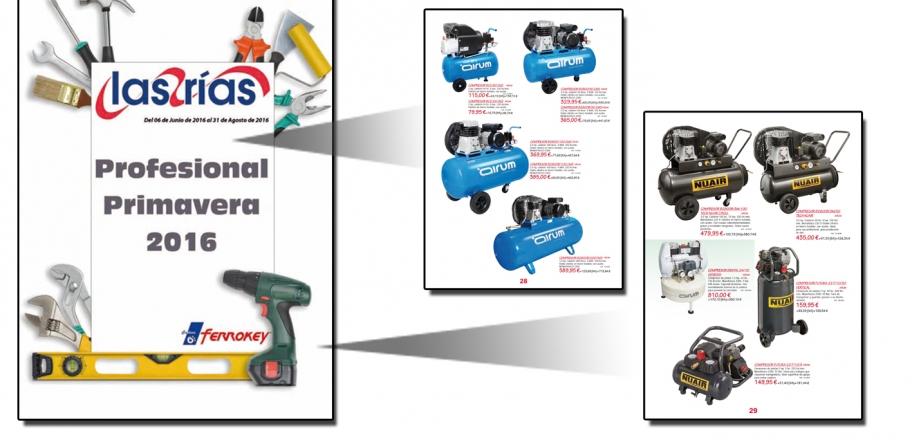 Nuevo Folleto Las Rias con compresores Airum y Nuair 76