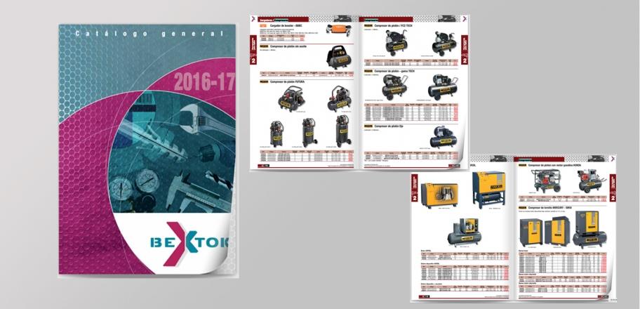 Catalogo Bextok  Aside con gama completa compresores Nuair 67