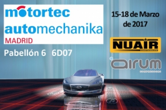 Airum-Nuair compresores en MOTORTEC 2017 Madrid