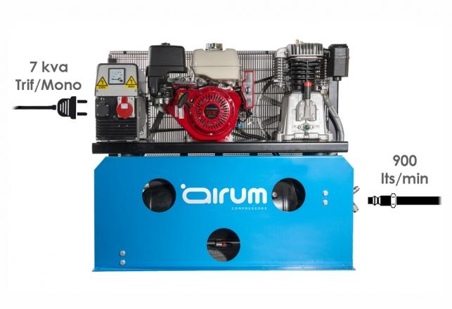 Motocompresor Gasolina con grupo electrogeno 32