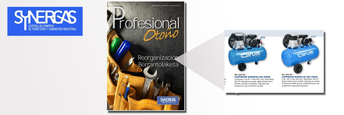 Nuevo folleto Synergas profesional otoño 158