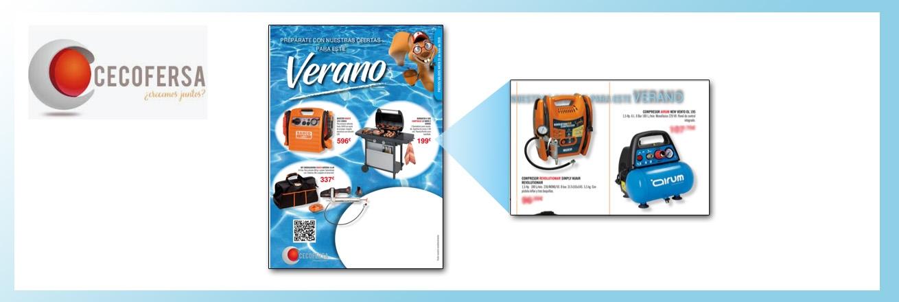 Nuevo folleto CECOFERSA Verano 19 , con los compresores Simply y New Vento 175