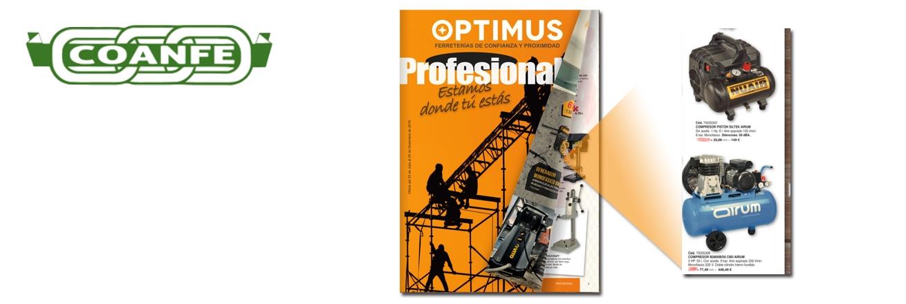 Nuevo folleto Coanfe Optimus profesional 2019 181