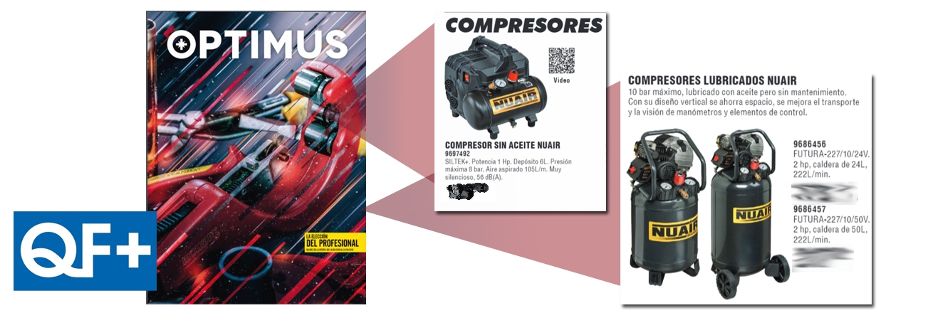 QF+ NUEVO FOLLETO PROFESIONAL OPTIMUS CON COMPRESORES NUAIR 180
