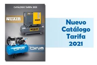 Nuevo catalogo tarifa 2021 compresores Nuair y Air...