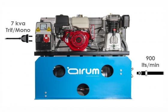Motocompresor Gasolina con grupo electrogeno