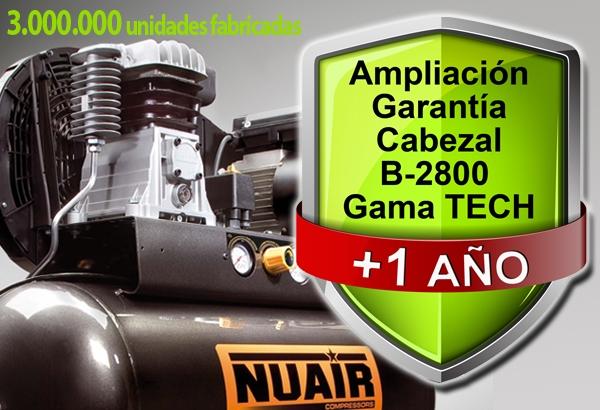 Continua la promocion ampliacion garantia B2800 Compresores Nuair y Airum 89