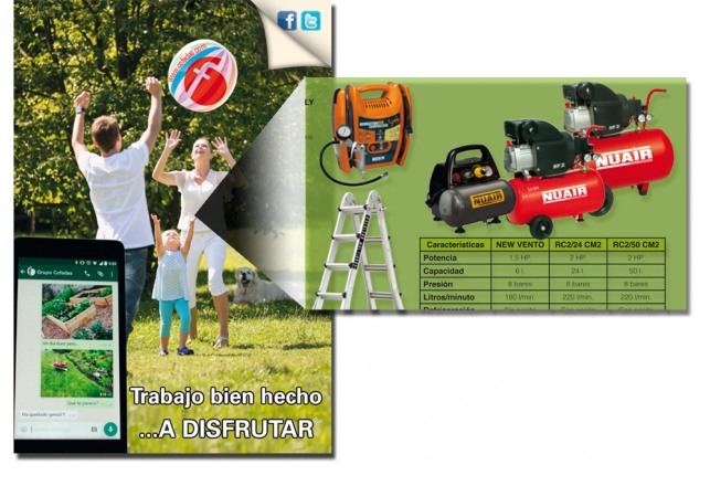 Nuair Compresores en folleto cofedas jardin 2016 87