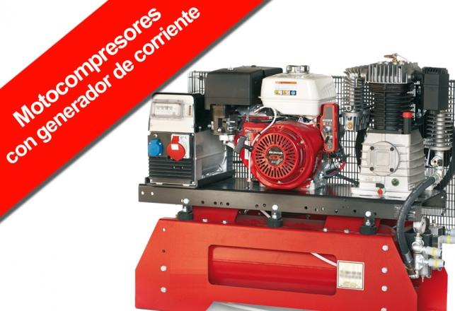 Moto compresores de piston con generador de corriente 140