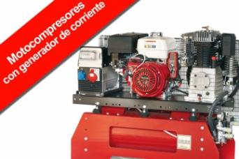 Moto compresores de piston con generador de corrie...