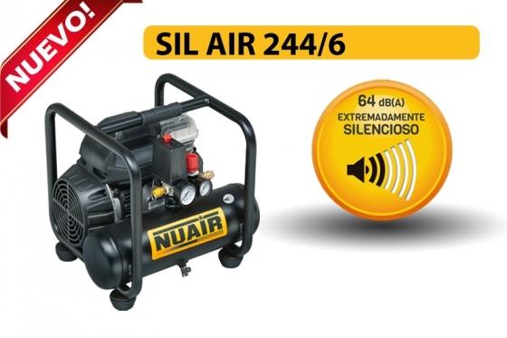 Novo compresor silencioso SIL AIR 244 6 de Nuair