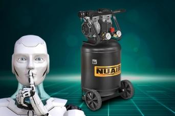 Nuevo compresor silencioso vertical Nuair 1.3hp 50...