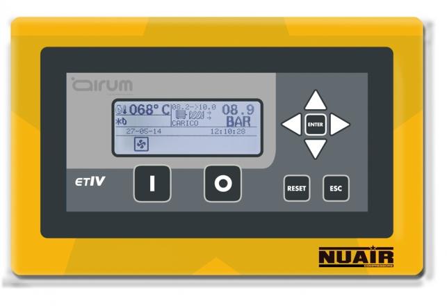 Controlador electronico avanzado ETIV para compresores de tornillo 70