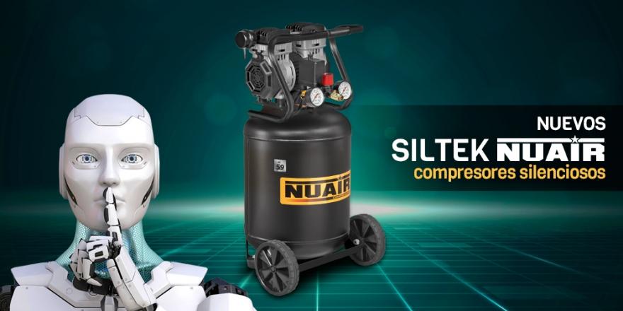 Nuevo compresor silencioso vertical Nuair 1.3hp 50lts 237