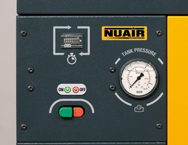 El panel de control, de fácil lectura, incluye todos los testigos necesarios para el control del funcionamiento.