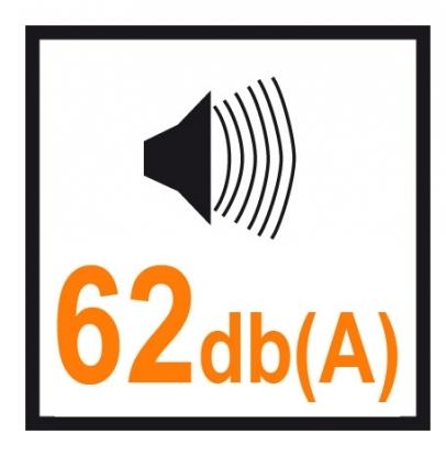 El nivel sonoro más bajo del mercado.Obtenido gracias al especial diseño de los elementos y a otras soluciones dirigidas a reducir la emisión de ruido
