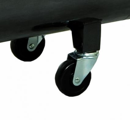 Doble rueda giratoria para una mayor estabilidad en el movimiento.