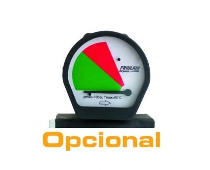Opcional:manometro diferencial (indica saturacion del elemento filtrante)