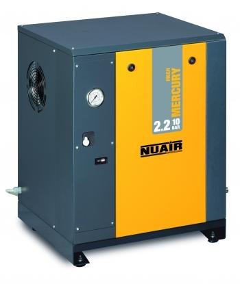 Compresor de tornillo:  Caracteristicas tecnicas y extras que incorpora: Control de tipo electromecanico ON/OFF, de sencilla utilizacion  Facil descarga de la condensacion; Minimo consumo energetico; Muy silencioso:
