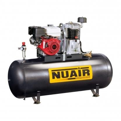 Compresor de piston.  La combinacion de un grupo potente y fiable con una gran reserva de aire, hace que este compresor adecuado para la mayoria de accesorios neumaticos que requieren un elevado consumo de aire