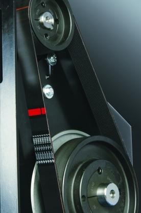 La correa Poly-V garantiza una larga duracion y minimo mantenimiento