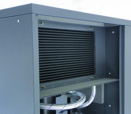 Radiadorcombinado con una gran superficie de refrigeracion.