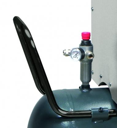 Regulador de presion sobredimensionado con doble salida de aire.