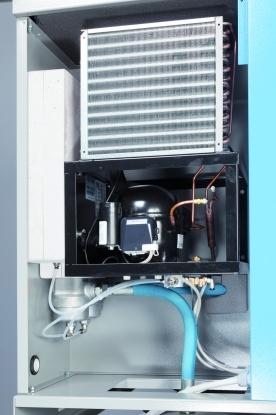 Secador Frigorificomas un filtro Serie Q de 10 micron y a otro serie P de eliminacion de aceite de 1 micron.